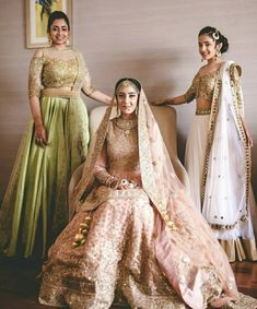 Every Indian Bride has her own designer wedding lehenga dreams. We have picked our favourite stunning bridal lehenga colors that are not red Bridal Looks, Bridal Style, Sikh Wedding, Wedding Dresses, Wedding Reception, Wedding Poses, Wedding Bells, Punjabi Wedding, Wedding Lenghas