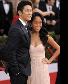 Harry Shum Jr. & his wife, Shelby Rabara