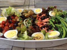 Salade Nicoise with smoked salmon