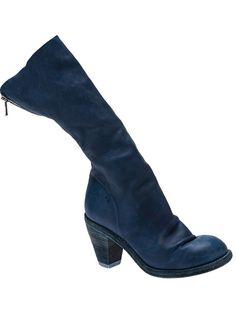 57a0a510075c GUIDI - Mid-calf boot 5 Состаренная Кожа, Сапоги Из Телячьей Кожи Средней  Высоты