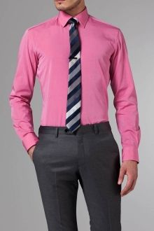 The Ultimate Bold Pink Shirt Mens Attire, Men's Wardrobe, Well Dressed, Men's Style, Custom Made, Men's Fashion, Bows, Buttons, Suits