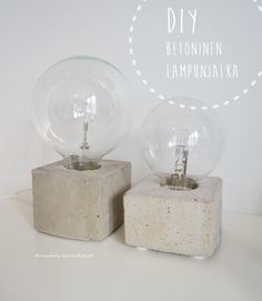 Annukan aurinkoiset: DIY betoninen lampunjalka - ohje Diy And Crafts, Arts And Crafts, Diy Wedding, Projects To Try, Perfume Bottles, Place Card Holders, Make It Yourself, How To Make, Diy Light