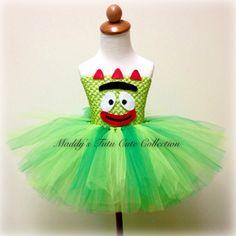 Yo Gabba Gabba Brobee Tutu Dress Sizes Newborn 10 by MTCCollection, $45.00