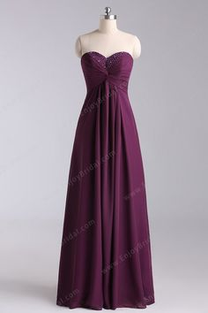 A-line Sweetheart Sleeveless Floor-length Elegant Chiffon Beading Prom Dress 2013$120.00