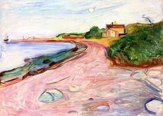 Beach - Edvard Munch 1904 Norwegian 1863-1944