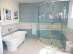 10 best blue white bathroom images powder room blue tiles rh pinterest com