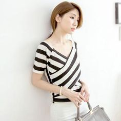 Buy 'Tokyo Fashion – Short-Sleeve Wrap-Front Striped Top' with Free International Shipping at YesStyle.com. Browse and shop for thousands of Asian fashion items from Taiwan and more!