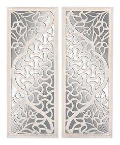 Look at this #zulilyfind! White Lattice Mirror Wall Art Set #zulilyfinds