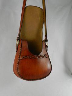 Latigo cuero bolso hecho a mano teñida a mano por KawValleyLeather