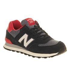 New Balance M574 Navy Red Exclusive - Unisex Sports