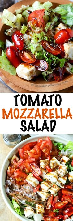 Tomato Mozzarella Salad is perfect for a delicious lunch and it is a great fresh side to add to any dinner. Loaded with ripe juicy tomatoes, buttery fresh mozzarella and thinly sliced onions, this salad comes together in a flash even with the homemade dressing!