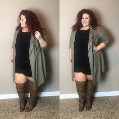 Are you looking for plus size fall outfits to rock this season? We've gathered together 20 of the season's best plus size outfits. Plus Size Fall Outfit, Plus Size Fashion For Women, Plus Size Women, Plus Size Outfits, Plus Fashion, Plus Size Boots, Fashion Ideas, Plus Size Fasion, Plus Size Winter Outfits