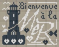 A little free before leaving, it does not hurt! - The newspaper embroidered IsaHV Cross Stitch Sea, Counted Cross Stitch Patterns, Cross Stitch Charts, Cross Stitch Designs, Embroidery Art, Embroidery Stitches, Blackwork, Cross Stitch Freebies, Chart Design