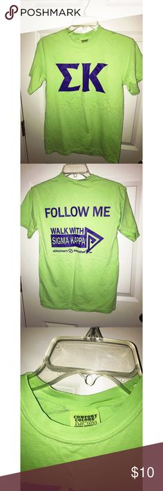 Green/Purple Sigma Kappa Walk to End Alzheimer's Brand: Comfort Colors Size: Small Style: T-Shirt Occasion: Everyday Fit: Regular Comfort Colors Tops Tees - Short Sleeve Walk To End Alzheimer's, Sigma Kappa, Helping Hands, Comfort Colors, Green And Purple, Bed Pillows, Walking, Best Deals, Tees
