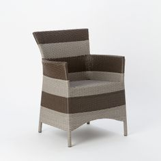 Woven Armchair, Stripe in Outdoor Living GARDEN DÉCOR Furniture Seating at Terrain