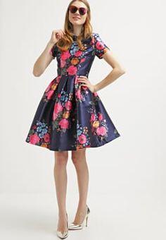 015d4077c Chi Chi London - AMBER - Sukienka letnia - blue Bursztyn, Niebieskie  Paznokcie