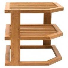 Shelves: Bamboo Three Tier Corner Shelf
