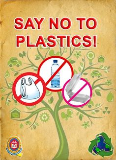 Just look for some catchy 'NO PLASTIC BAGS' poster ideas from this collection and participate in the environmental movement.