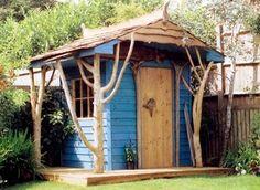 Whimsical garden shed. Backyard Sheds, Backyard Retreat, Garden Sheds, Garden Tools, Small Buildings, Garden Buildings, Fairytale Cottage, Garden Cottage, Potting Sheds