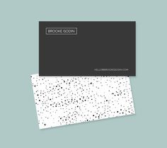 Polka Dots Business Card Template by Feather Art on Creative Market
