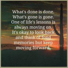 Keep moving forward...I