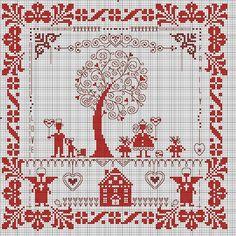 Схема вышивки крестом домашний оберег