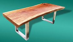 Dining Table Reclaimed Solid Slab Acacia Wood Extremely Rare