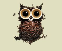 I love this owl and the coffee
