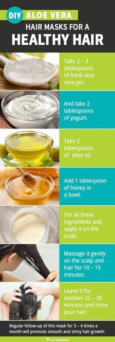 Aloe Vera with Olive Oil and Yogurt for Smooth and Shiny Hair #HairLossRemediesNatural
