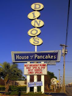 Dino's House of Pancakes, North Myrtle Beach, SC. Where I got the cooks hooked on gravy and cheese fries!! Lol