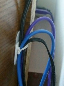 command hooks to help hide cords.