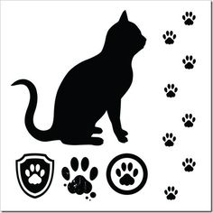 cats collection   vector silhouette   119484406 shutterstock