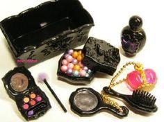 Re-ment miniature cosmetics Princess lip pallette powder parfume comb #Unbranded