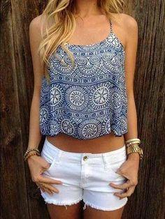 Self Esteem Sleeveless Braided Rust Brown Lace Trim *L XL* Juniors Shirt Summer
