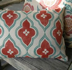 love the colors and pattern...I would love to design a room around this pillow