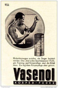 Werbung - Original-Werbung/Anzeige 1931 - VASENOL PUDER - ca. 65 x 90 mm