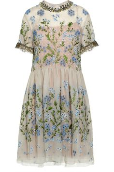 Biyan | Audrey embellished tulle dress | NET-A-PORTER.COM - So intricate, delicate, romantic...amazing.