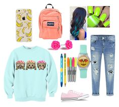 """School"" by superella04 on Polyvore featuring Converse and JanSport"