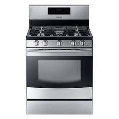 High-Powered Burner Cooktop Gas Range NX58F5500 (Stainless)| Samsung Home Appliances