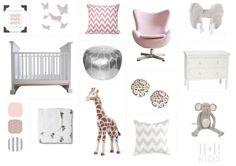 Girls Nursery Design Mood Board - Habitat and Beyond Kids