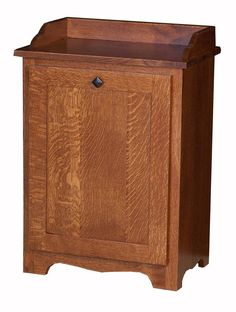 Amish Hardwood Mission Slideout Waste Bin Use this mission furniture for waste, recycling or as a clothes hamper.