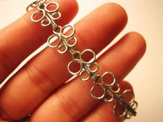 This bracelet is made from paper clips. One day I am going to attempt this. It could be a good Young Women's activity.