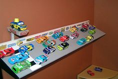Mattel Disney Pixar Diecast CARS: Build Your Own Speedway Shelf Tutorial | Take Five a Day