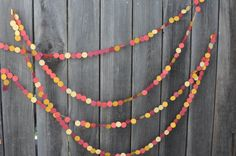 Christmas and Holiday Paper Garland Decoration