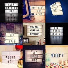 I finally found an affordable light box for my sayings and quotes Light Up Message Board, Light Board, Cinema Light Box Quotes, Typo Shop, Cinema Sign, Flat Interior Design, Marquee Sign, Marquee Lights, Licht Box