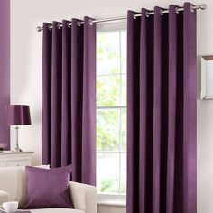 Refresh The Look Of Your Room With These Aubergine Purple Curtains,  Featuring An Easy To Install Eyelet Header And Efficient Blackout Lining To  Reduce ...