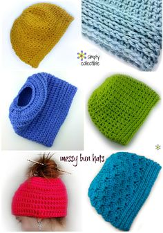 The craze of the Messy Bun Hat has taken us by surprise, but we get great joy in reinventing a vintage look. I hope to be adding TONS for your pleasure. If you need to make any messy bun hat into a full beanie, you can do so by adding two more rounds before your decrease round and cinch the top toge