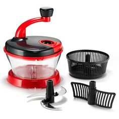 """chop 'til you drop! This kitchen gadget really gets the job done! Counter-gripping suction let's you chop, blend, spin and separate...oh my! HAND CRANK MULTI-CHOPPER doubles as salad spinner and egg separator; stainless steel/plastic, hand wash, 8"""" x8"""" x 9.75"""", $19.99 #AvonLiving #Kitchen #Campaign 20-23 Visit my online store @ www.youravon.com/amartinez8866"""