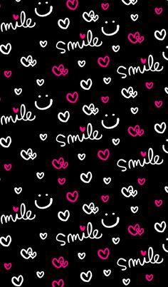 36 ideas wall paper celular preto frases for 2019 Smile Wallpaper, Cute Emoji Wallpaper, Phone Screen Wallpaper, Flower Phone Wallpaper, Neon Wallpaper, Cute Patterns Wallpaper, Butterfly Wallpaper, Cute Wallpaper Backgrounds, Cellphone Wallpaper