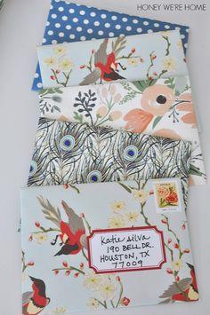 DIY Envelopes...love this!